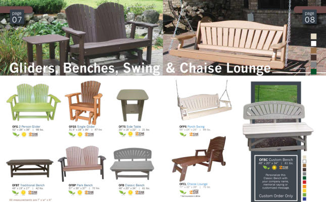 gliders outdoor recycled patio furniture