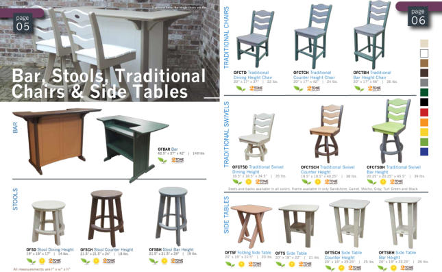 bar stool outdoor recycled patio furniture