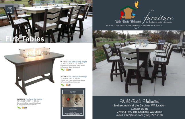 fire table outdoor recycled patio furniture