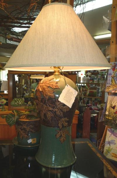 Lynn Leon NW art Lamp and Planter